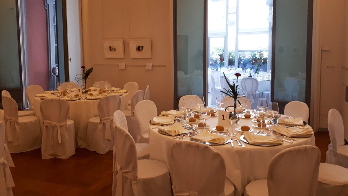 Sala del Collezionista allestita per cena