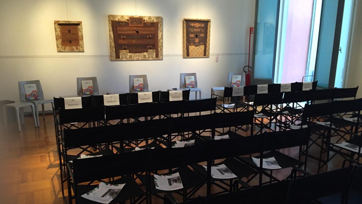 Sala del Collezionista allestita per riunione